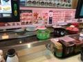 こんにちは(^。^)お昼ごはん🍣回転寿司だよ〜♬